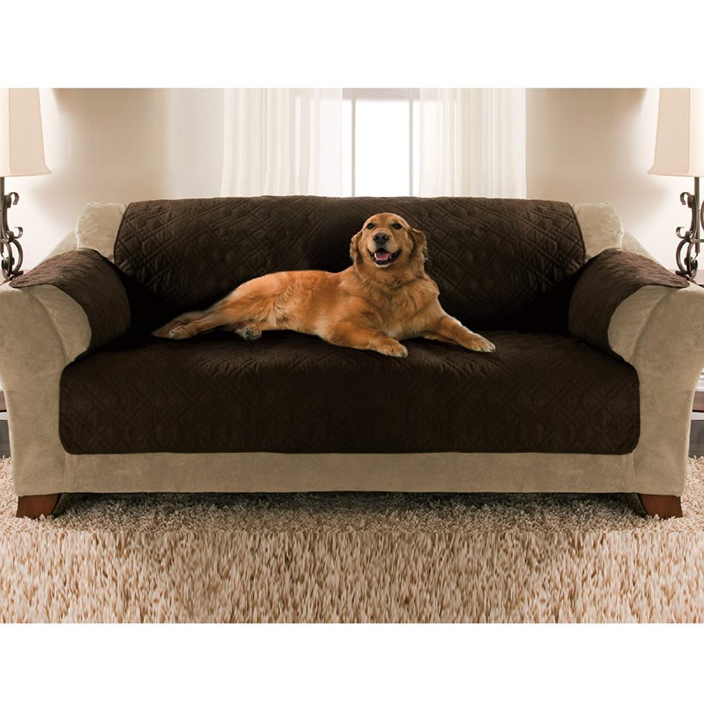 Yes Pets Sofa Size Quilted Micro Suede Furniture Protector